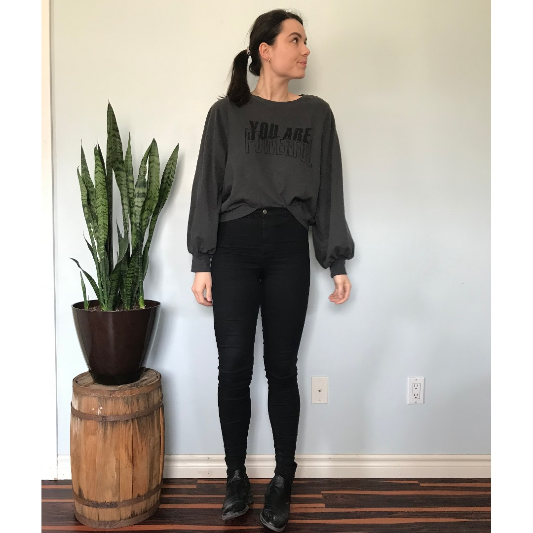 "Zara ""You are Powerful"" sweater- Size Medium"