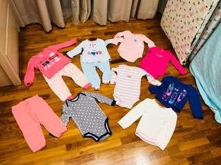 Baby girl sleepwear pajamas long sleeved clearance