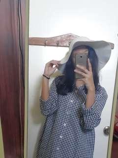 Korean style white floppy hat