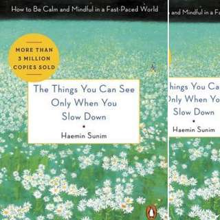 The Things You Can See Only When You Slow Down: Guidance on the Path to Mindfulness from a Spiritual Leader by Haemin Sunim