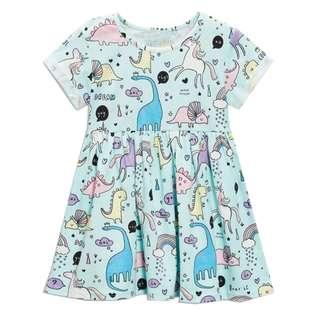 Dinosaur Blue Dress