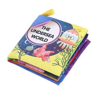 ❤ On-hand: 2 for 5.00 Baby Soft Cloth Book (Under the sea)