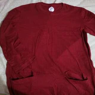 Baju Kaos (midi pocket maroon)
