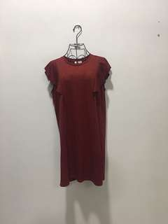 ❤️RED Simple Dress 133