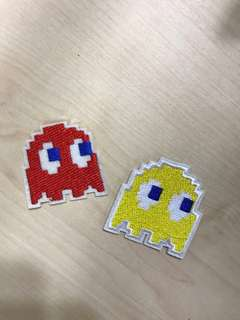 Iron On Patches: Pac Man Set