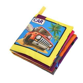 ❤ On-hand: 2 for 5.00 Baby Soft Cloth Book (Car)