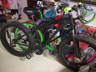 Fixie and fat bike