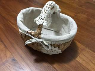 Handmade Rattan Flower Baskets (1 pair)
