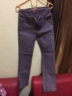 Dual jeans XL Ungu