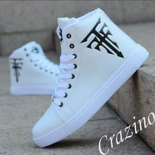 White Sneakers High Cut Shoes