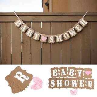 """❤ On-hand: """"Baby Shower"""" Bunting/Banner"""