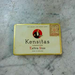 England Kensitas Cigarettes Tin Vintage