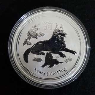 2018 1 oz Australian Silver Dog Coin (BU)