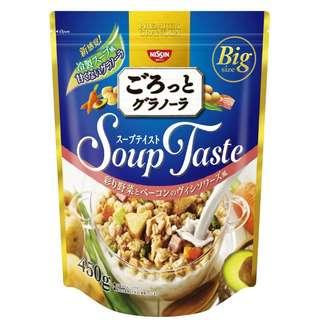 (全新訂購) 日本製造 日清 Soup style 法式冷湯 野菜煙肉 穀物片 450g