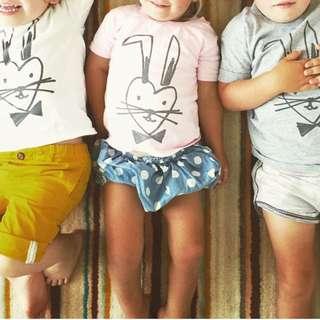 Handprinted Bunny Tees