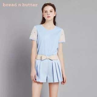 🐧bread n butter夏裝 氣質T恤 網紗拼接短袖衫