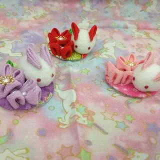 和風兔子飾品