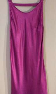 Forever 21 Magenta Silky Slip Dress