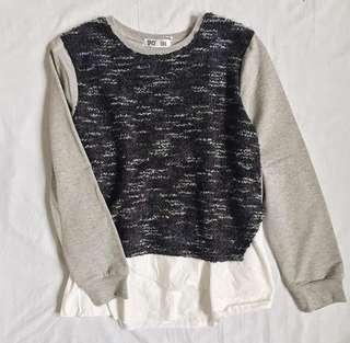 Knitted Gray Sweatshirt ❤️