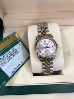 Rolex DateJust Yellow Gold Diamond Watch
