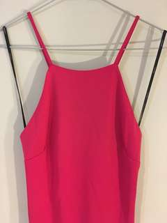 Forever 21 fuschia low back bodycon dress