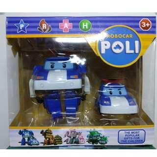 Mainan Anak Robocar 2 in 1 - Robocar Poli dan Mobil