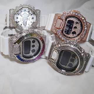 Gshock white strap customise watches