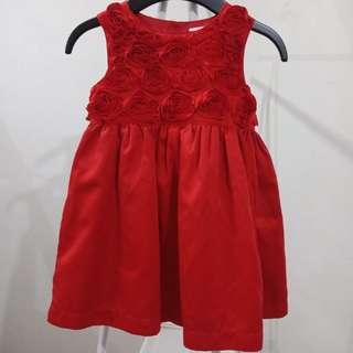 Carters flower red dress