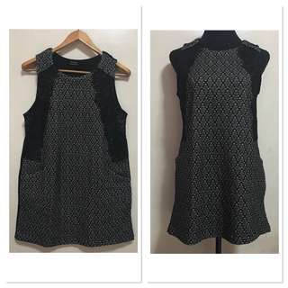 [Preloved] Maple Fashion Printed Corpo Office Dress