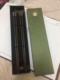 酸枝木 925 银筷子