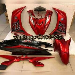 yamaha Lc135 v1/v2/v3/v4 merah hitam 2017 coverset