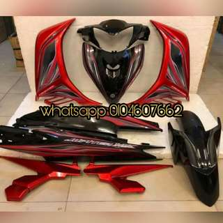 Yamaha Lc135 V2/v3/v4 Jupiter MX Red Aurora coverset