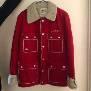 Quicksilver 激罕 羊毛外套 紅色(極保暖)購自日本