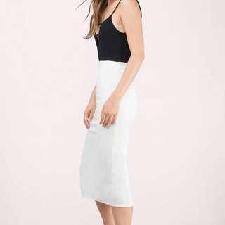 White High Waisted Pencil Skirt