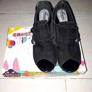 I WEAR UP - Wedges Black