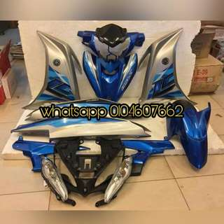 Yamaha Lc135 v4 Blue silver Complete body coverset