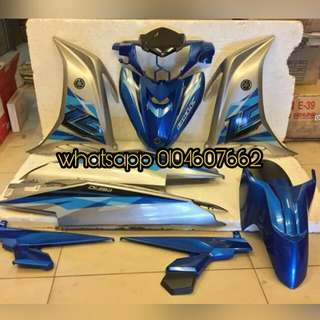 Yamaha Lc135 v4 Blue Silver Coverset