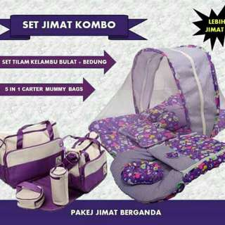 COMBO SET TILAM BULAT DAN SET MUMMY BAG