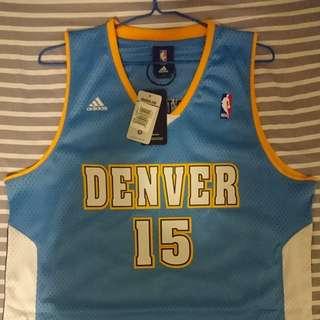 Men's Adidas Denver Nuggets #15 Carmelo Anthony Light Blue Swingman Jersey Sz L