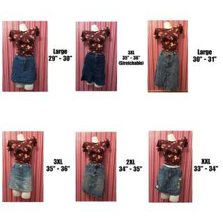 🌐 UkayAddicts.Ph | Denim Skirts For Girls & Womens (Large)