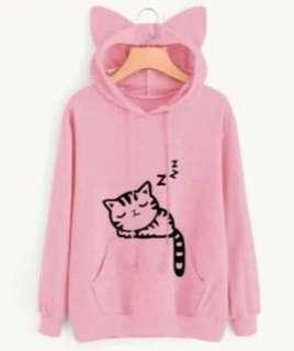 Pink cat ear Hoodie