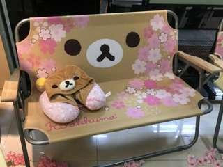 🚚 7-11拉拉熊粉嫩櫻花限量戶外摺疊雙人椅