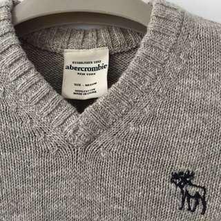 🚚 降價求出清 美國帶回 全新 A&F 灰色毛衣 學院風 Abercrombie & Fitch / a&f / AF