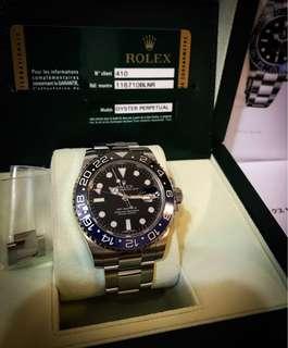 Rolex GMT-MASTER 2 116710 BLNR (batman)