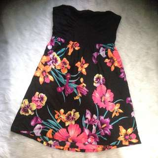 ROXY Floral Tube Dress