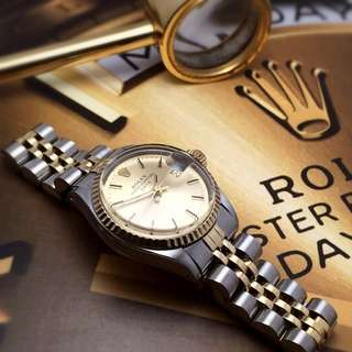 SOLD-       Rolex Lady Vintage Two Tone Datejust