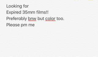 Looking for expired 35mm films! Preferably bnw but color is okay too