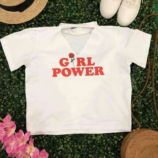 GIRL POWER Choker Tee