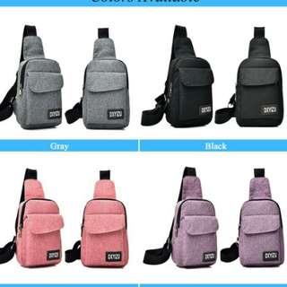 ( instock)2018 unisex men/ women new stylish headphone bogging  sporting sling bag