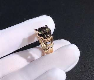 卡地亞Cartier 豹頭鑽石戒指